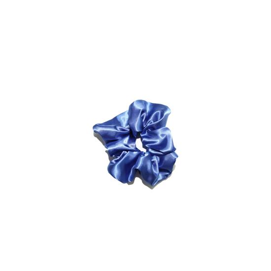 scrunchie marine blauw